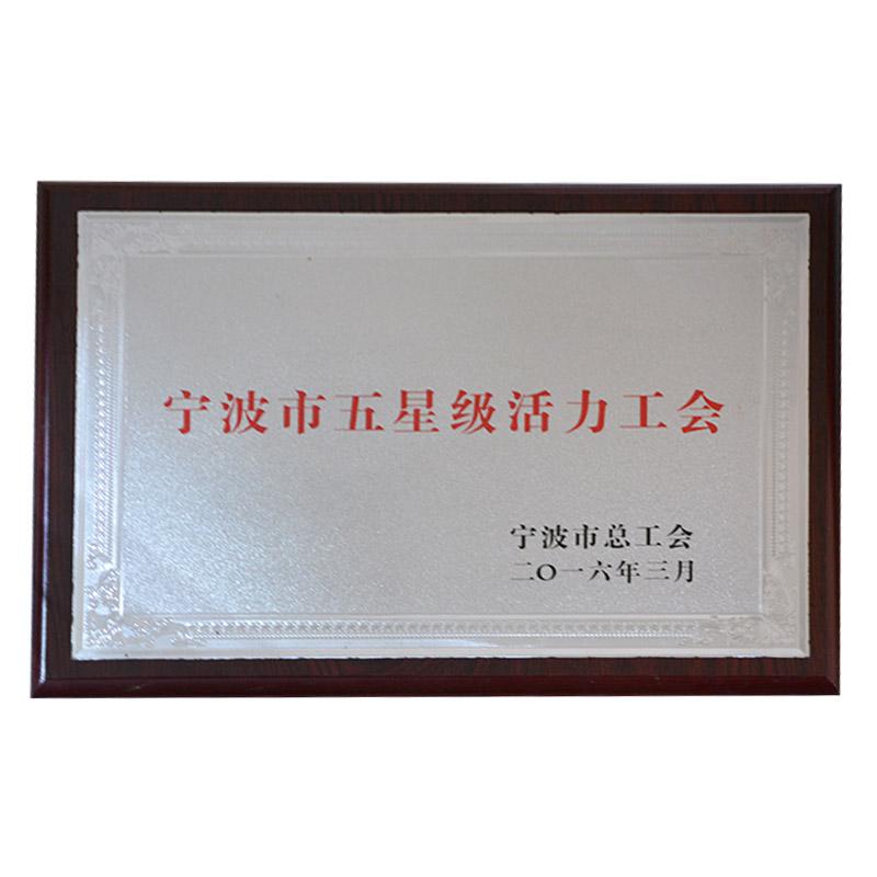 宁波市五星级活力工会